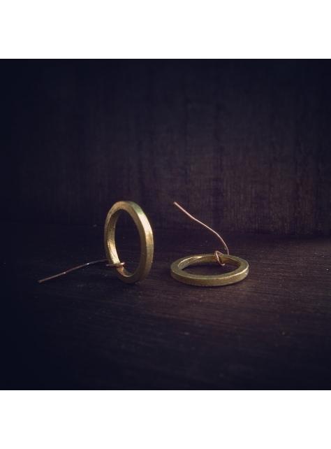 Circular 迴圈 -金工手工黃銅耳環 Brass Earrings