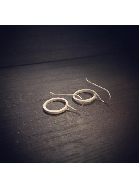 Circular 迴圈 -金工手工純銀耳環 Silver Earrings