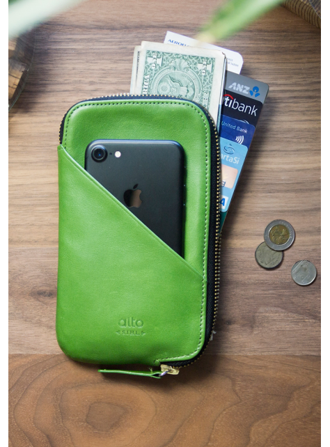 Travel Phone Wallet - Lime