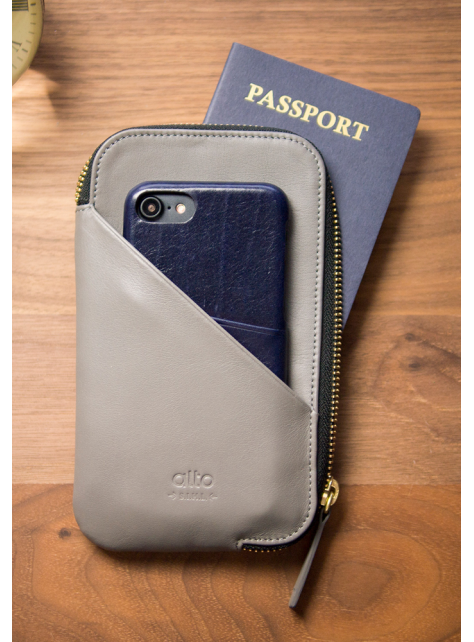Travel Phone Wallet - Cement