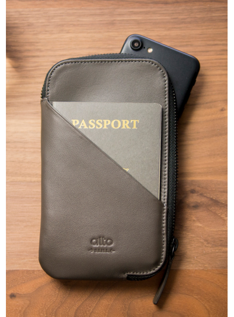 Travel Phone Wallet - Carbon