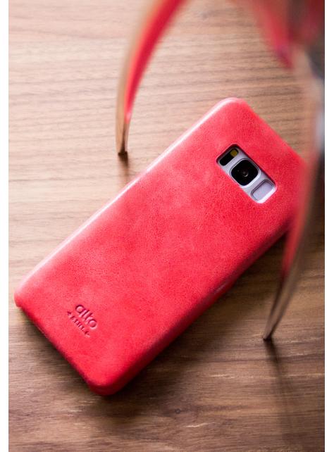 Samsung Galaxy S8+ Original Leather Case - Coral