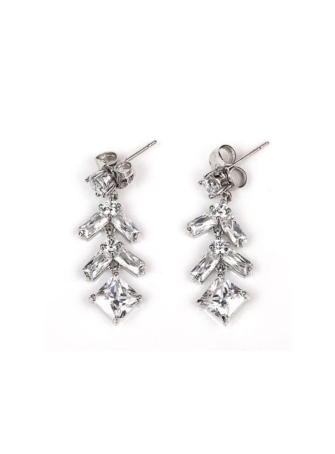 【ER020】頂級美國ILG鑽飾 巴黎方鑽耳環