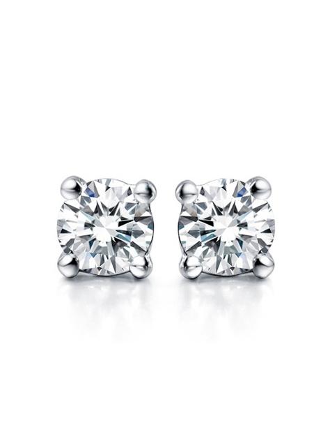 【E5-10/E5-11】頂級美國ILG鑽飾 2克拉四爪單鑽耳環