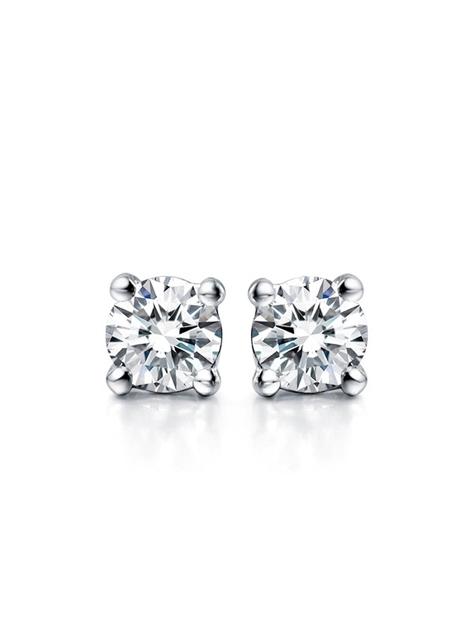 【E5-05】頂級美國ILG鑽飾 75分四爪單鑽耳環