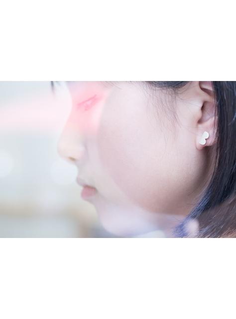 Misstache 鬍子小姐二號 925Silver 金工手工純銀耳環 Earrings