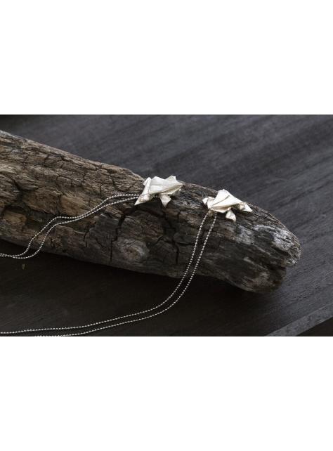 Origamini, 小摺學 925Silver 金工純銀項鍊 necklace  蛙 Frog