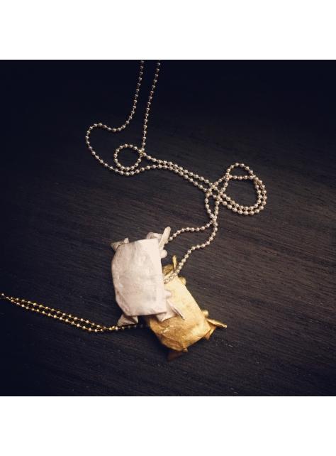 Origamini, 小摺學 925Silver 金工純銀項鍊 necklace 蟹 Crab