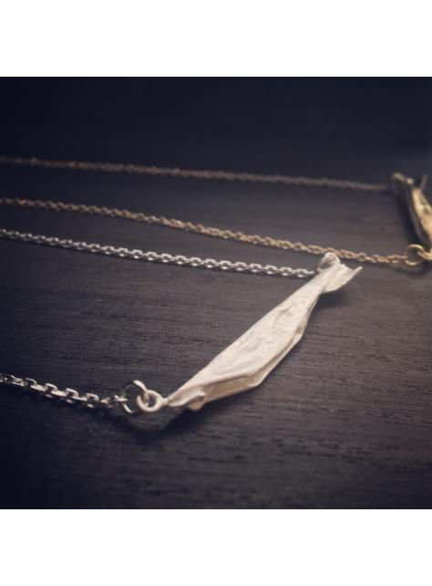 Origamini, 小摺學 925Silver 金工純銀項鍊 necklace 魚 Fish