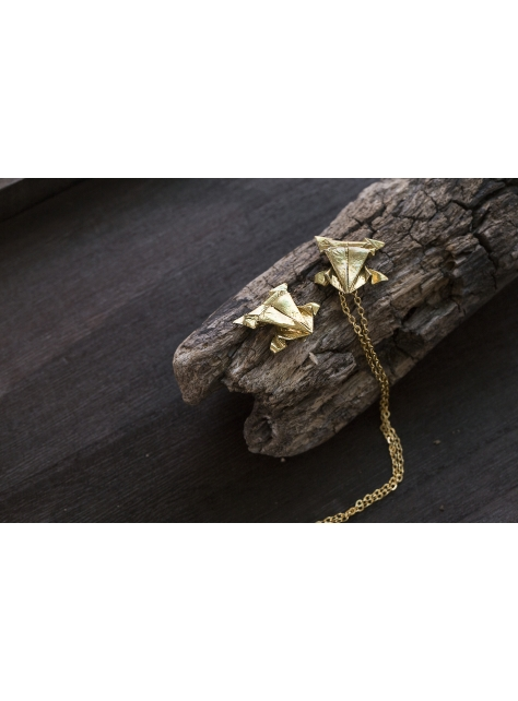 Origamini, 小摺學 Brass 金工黃銅項鍊 necklace 蛙Frog