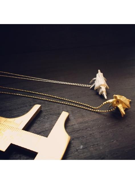Origamini, 小摺學 Brass 金工黃銅項鍊 necklace 蝦Shrimp