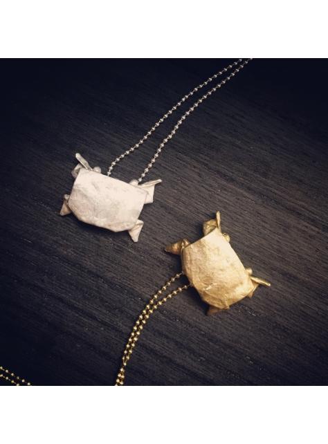 Origamini, 小摺學 Brass 金工黃銅項鍊 necklace 蟹Crab