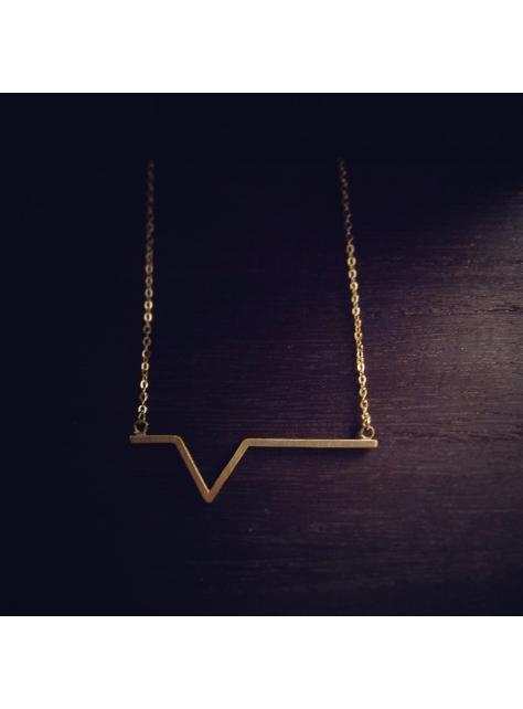 Beats 悸 -金工手工黃銅項鍊 Brass necklace P