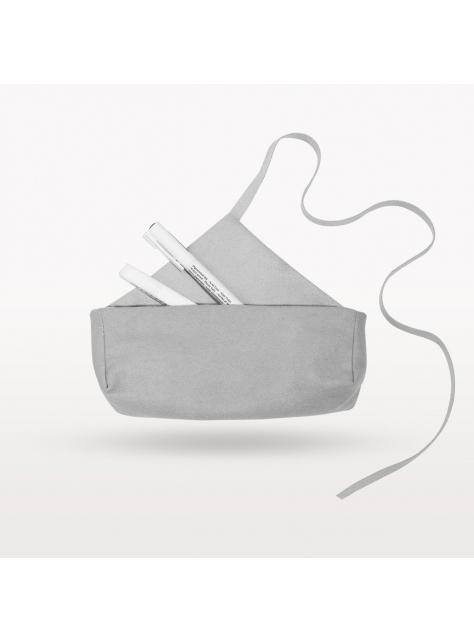 mini V 迷霧粉灰色綁帶收納袋筆袋 四色