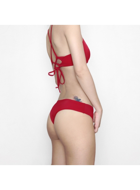Lahaina Red Cheeky 紅色性感巴西式泳褲