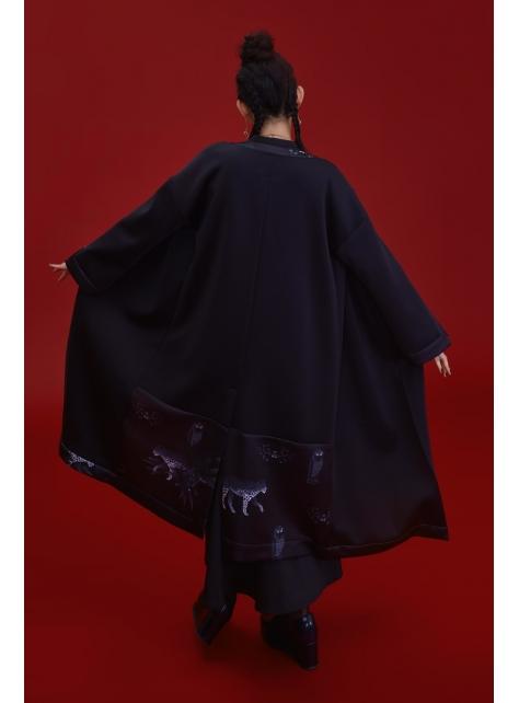 黑豹太空棉開襟罩衫