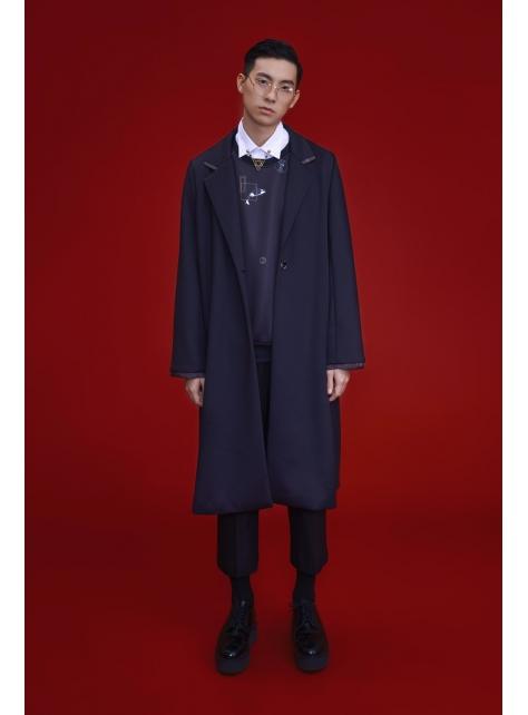 科學麵太空綿長版大衣