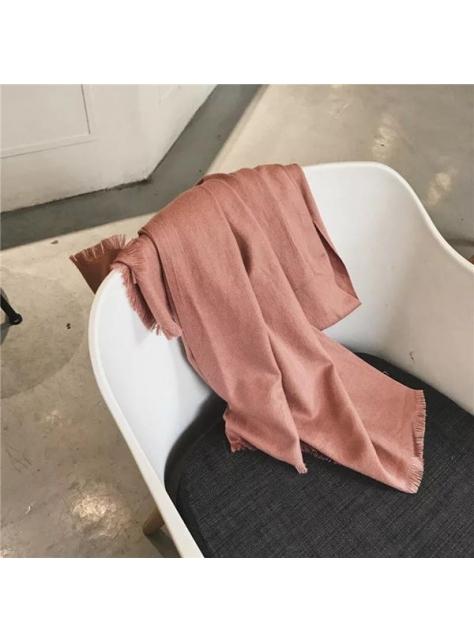 西柚色少女心細膩柔軟百搭圍巾