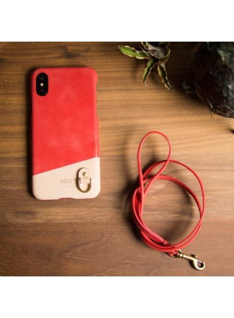 【組合價】iPhone X 皮革保護殼 Anello+頸掛皮繩