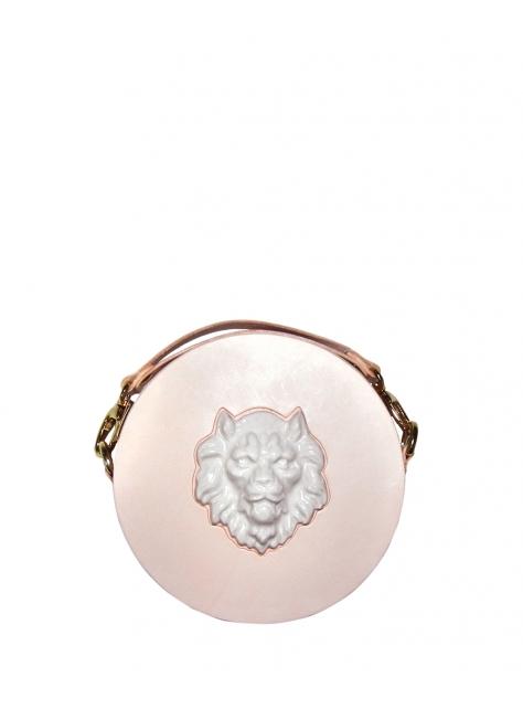 獅頭圓形手拿包
