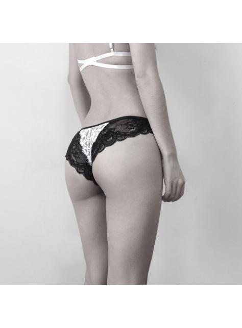 Under Lea 黑白蕾絲內褲
