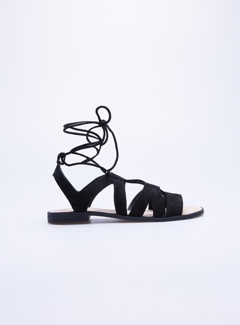 REBECCA MINKOFF 黑色綁帶涼鞋