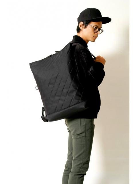 RED CAPACITY-KUROSHIO CURRENT-手做防水帆布後背/手提/肩揹/斜揹/多用途包-正面