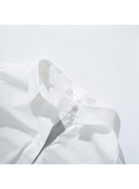 經典銀芽織帶襯衫
