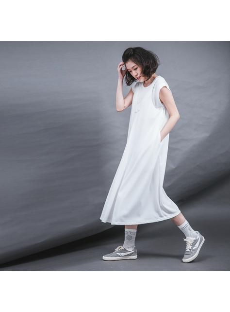 大波浪吊帶裙
