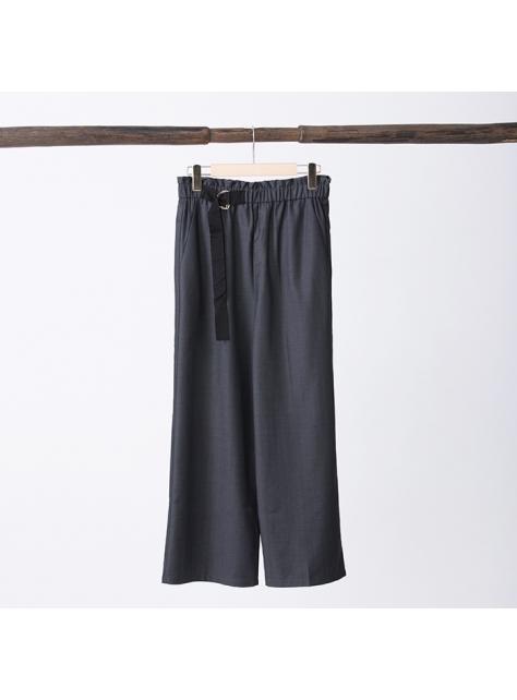 西裝腰帶寬褲