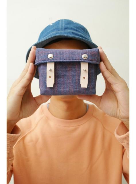 RED CAPACITY-EASTER EGGS-手做皮革 碎點印花帆布 盒型相機/收納包