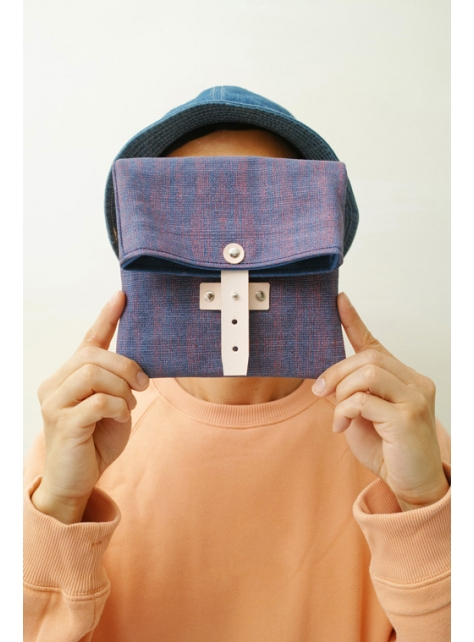 RED CAPACITY-EASTER EGGS-手做皮革 碎點印花帆布 折疊式相機/收納包