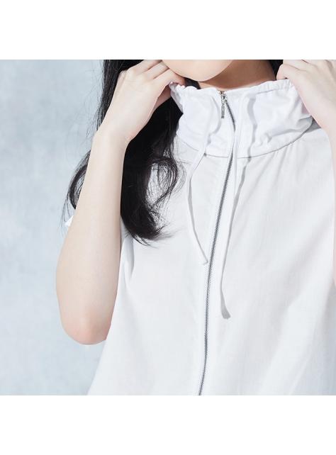 純白棉襯衫上衣