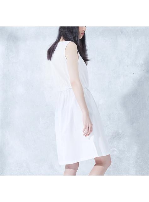 無袖氣質襯衫洋裝