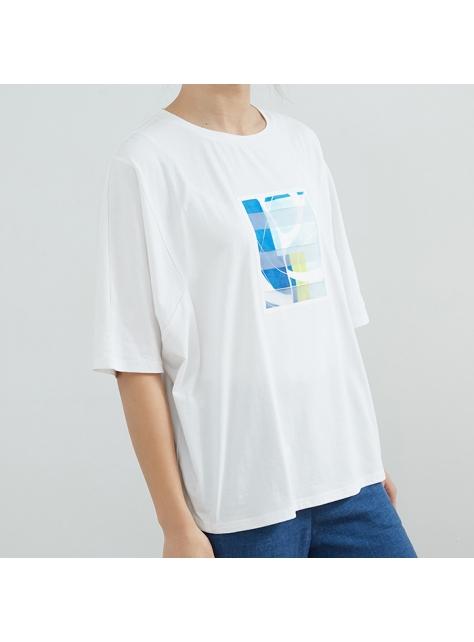 獨家設計幾何圖寬版T恤