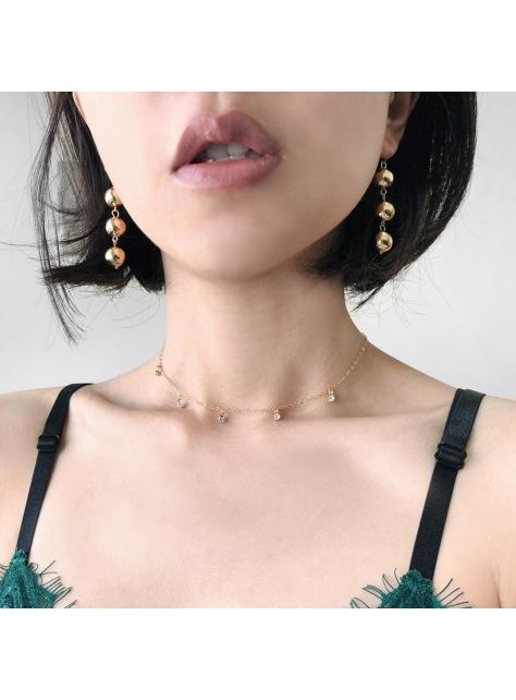Kore 復古金珠串墜耳環