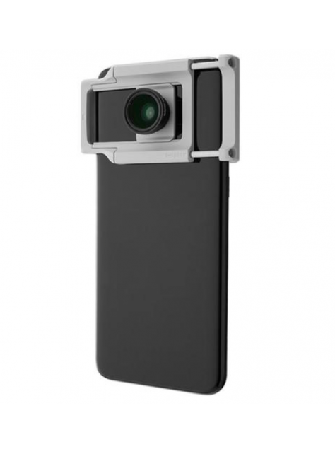 AllClip通用鏡頭夾搭配標準廣角+微距鏡頭