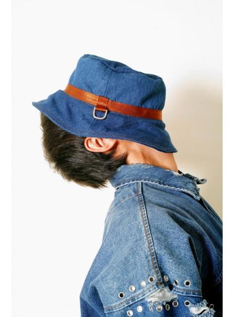DENIM-手做丹寧牛仔帆布漁夫帽