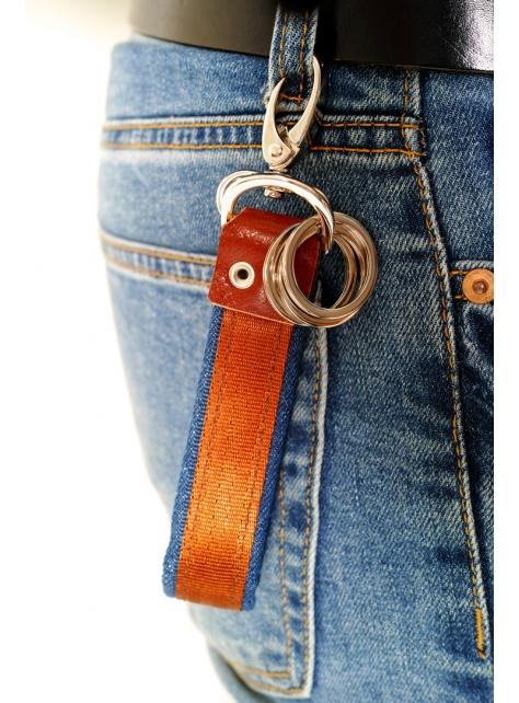 DENIM-手做皮革丹寧牛仔帆布鑰匙圈